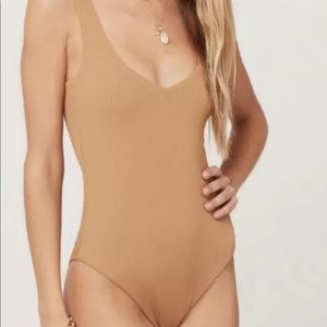 L Space Ribbed Arizona One Piece Swimsuit L